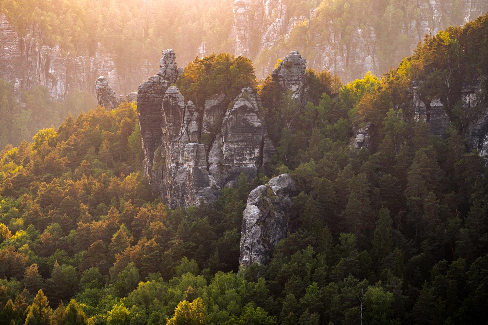 Elbsandsteingebirge, felsen